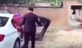 بالفيديو.. شاب يسقط عروسه بطريقه مروعة في حفل زفافهما