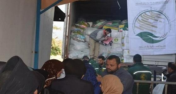 بالصور.. مركز الملك سلمان للإغاثة يوزع مساعدات على اللاجئين السوريين