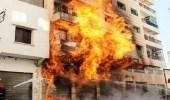 حريق في شقة بسبب أعمال لحام بمكة المكرمة