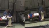بالفيديو.. مسن يعتدي على آخر بالضرب المبرح داخل مستشفى