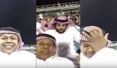بالفيديو.. العويران يمازح تركي آل الشيخ ..والاخير يصدمه