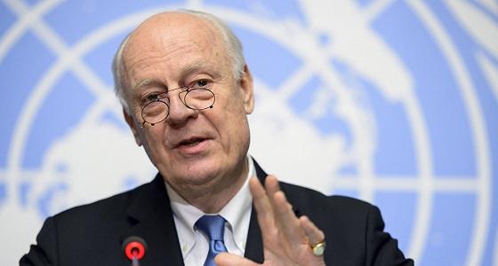 دي مستورا: سنطرح مبادرة حول إنشاء لجنة الإصلاح الدستوري السورية