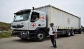 قافلة مساعدات تتجه إلى تل رفعت وعفرين السورية