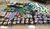 """بالصور.. مصادرة مواد غذائية لسوء التخزين في """" الرس """""""