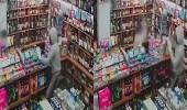 بالفيديو.. عجوز يعترض لصان مسلحين حاولا سرقة متجره