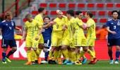 بالصور.. أوكرانيا تفوز على اليابان استعدادًا للمونديال