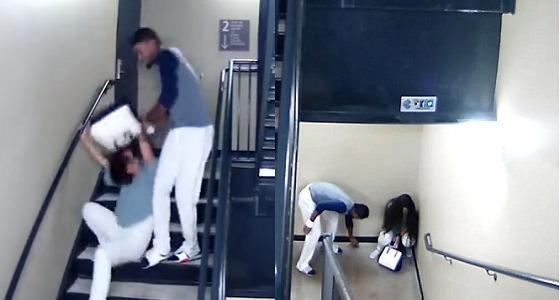 بالفيديو.. لاعب شهير يعتدي على خطيبته بالضرب المبرح