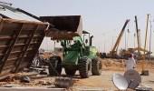 أمانة الرياض: إزالة 177 مخيما وغرفا جاهزة غير نظامية عن المدخل الشرقي