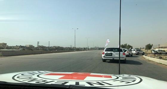 قافلة إغاثة من الصليب الأحمر الدولي إلى الغوطة