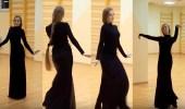 """بالصور. . فتاة روسية تتعلم الرقص على أغاني """" طلال مداح """""""
