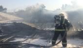 بالصور.. إخماد حريق اندلع في 4 بركسات شمال جدة