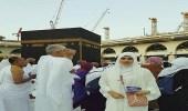 بالصور..زوجة ماجد المصري بالمسجد الحرام لأداء العمرة