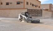 بالصور.. بلدية طريف تواصل حملاتها لتنظيف الأحياء السكنية
