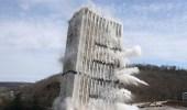 بالفيديو .. انهيار أطول مبنى بفرانكفورت فى 5 ثوان