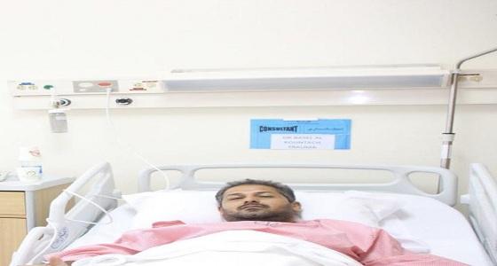 """3 مصابين بـ """" سعود الطبية """" يروون تفاصيل حادث سقوط شظايا الحوثي"""