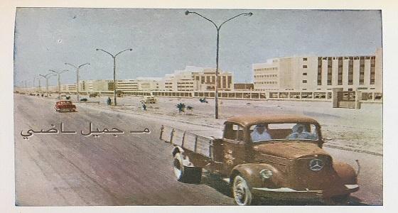 صورة نادرة لشارع المطار القديم بالرياض نهاية الخمسينات صحيفة صدى الالكترونية