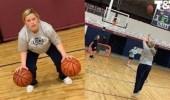 بالفيديو.. حامل تستعرض مهارتها في كرة السلة قبل ساعات من الإنجاب