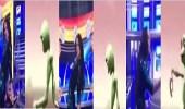 بالفيديو.. رد فعل غريب لمذيعة على رقصة كائن فضائي