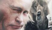 """"""" بوتين """" يكشف حقيقة علاقته بالدب.. ويعلق على صوره العارية"""