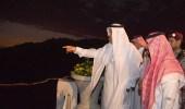بالصور.. أمير الباحة يدشن مشروع إنارة طريق عقبة الملك فهد