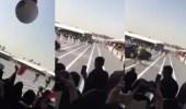 بالفيديو.. سقوط طالب عسكري بحفل تخرج