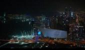 """بالفيديو والصور.. """" دبي """" تحطم رقما قياسيا بأكبر شاشة عرض جوية في العالم"""