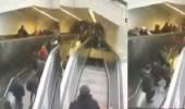 بالفيديو.. سلالم متحركة تبتلع شخصًا في محطة مترو