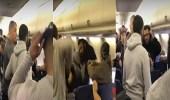 بالفيديو.. معركة جوية عنيفة على متن طائرة أمريكية