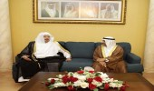 """رئيس """" الشورى """" يلتقي نظيره البحريني.. ويؤكد: المملكتين تجمعهما علاقات أخوية"""