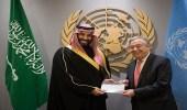 ولي العهد والأمم المتحدة يوقعان برنامج تمويل الاستجابة الإنسانية في اليمن