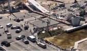 بالصور.. انهيار جسر حديث بولاية فلوريدا الأمريكية