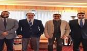 صورة تجمع ولي العهد والأمير محمد بن فهد في نيويورك