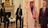 فرق السماء والأرض.. مشاهد من زيارة خادم الحرمين إلى روسيا مقارنة بأمير قطر