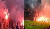 بالفيديو.. جماهير أحد الأندية التركية تشعل الملعب قبل ديربي إسطنبول