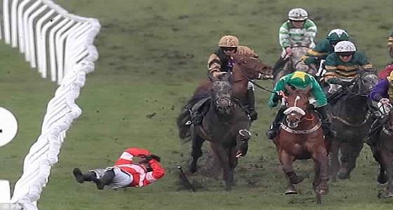 بالفيديو.. لحظة كسر ساق حصان في سباق