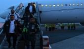 بالصور.. وصول بعثة الأخضر إلى بروكسل