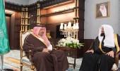 بالصور.. أمير الباحة يستقبل الرئيس العام لهيئة الأمر بالمعروف في مكتبه
