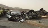 بالصور.. مصرع وإصابة 3 في حادث تصادم بالباحة