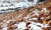 سراة عبيدة تشهد سقوط كميات من البرد