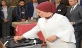 بالصور.. قرينة الرئيس السيسي تدلي بصوتها في الانتخابات الرئاسية المصرية