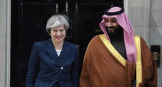 تعرف على هدية رئيسة وزراء بريطانيا للأمير محمد بن سلمان