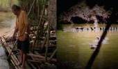 بالفيديو.. قرويون يطاردون تمساحا طوله 9 أمتار في الفلبين