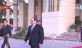 الرئيس المصري في مقدمة مستقبلي ولي العهد