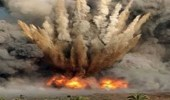 انفجار عبوة ناسفة في وادي ضمد بجازان