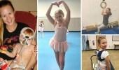 بالصور.. طفلة تتحدى إصابتها بالشلل بممارسة الرقص
