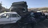 بالصور.. قتلى وجرحى إيرانيون في تصادم شاحنة بـ 9 سيارات