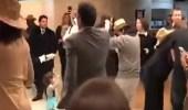 بالفيديو.. حفل راقص لأعضاء هيئة حقوق الإنسان بعد اجتماع حول الغوطة