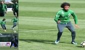 بالفيديو والصور.. الأخضر يواصل تدريباته في إسبانيا