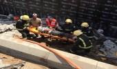 3 إصابات بحادث انهيار خزان أرضي في جدة