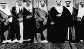صورة نادرة تجمع الملك سعود بن عبد العزيز وأخوانه